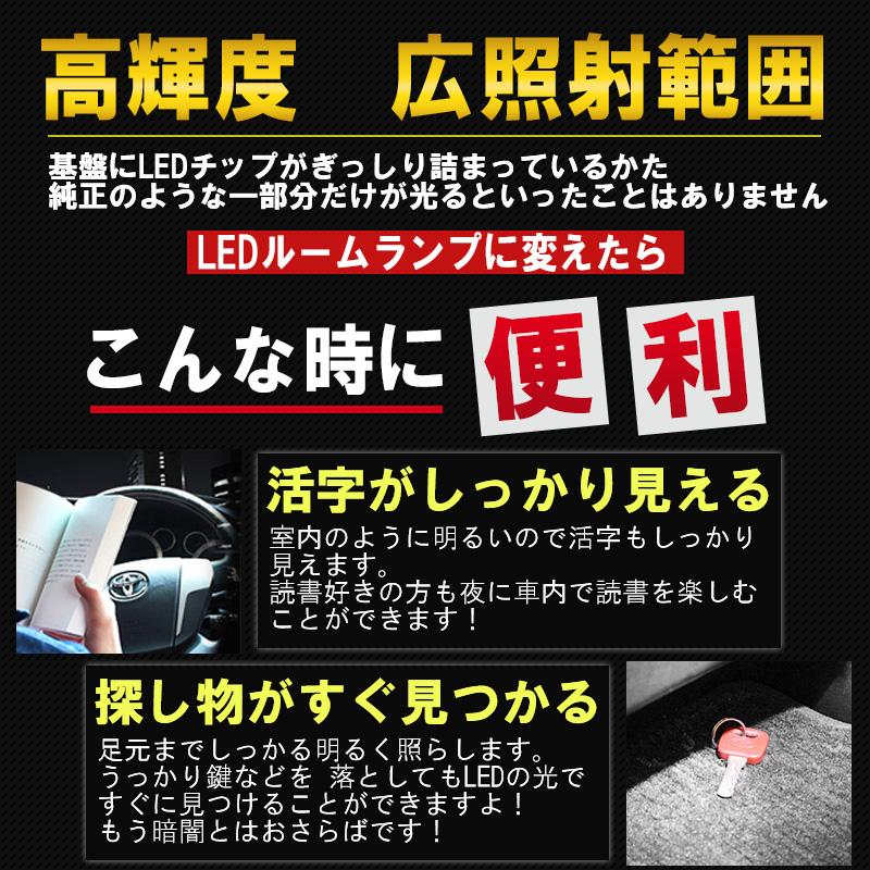 TOYOTA(トヨタ)80系 ヴォクシー/ノア/エスクァイア ZRR80G ZRR85G ZWR80G系 ルームランプ5点とナンバー灯2点付きセット画像4