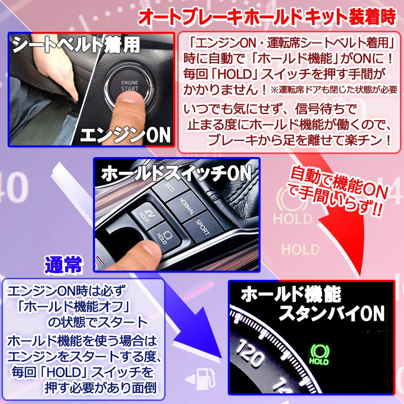 カムリ70系オートブレーキホールド機能_製品メリット