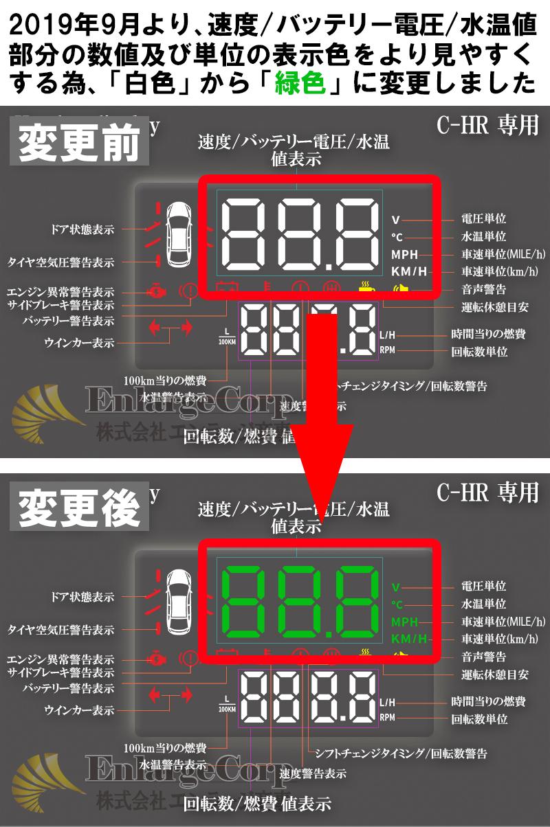 C-HR専用HUDヘッドアップディスプレイ2