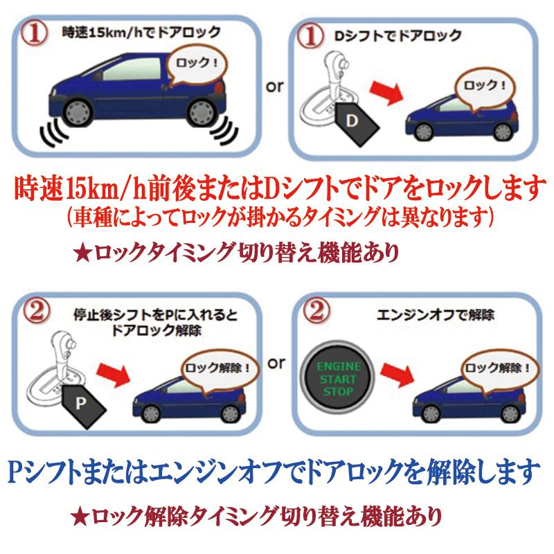 トヨタプリウス50系専用車速連動オートロックキット_2