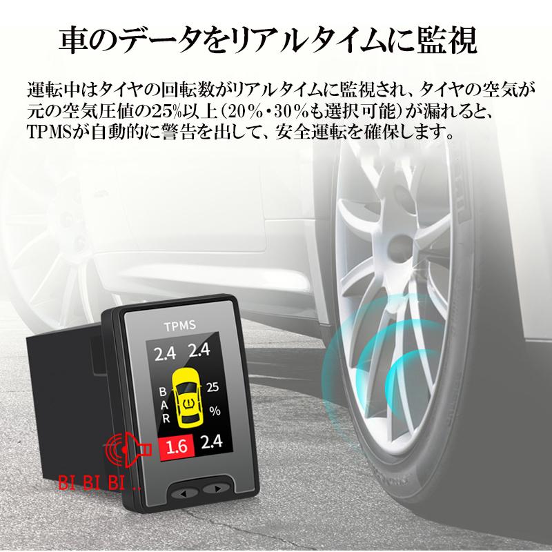 トヨタ車専用液晶モニター型タイヤ空気圧監視警報システムTPMS_4