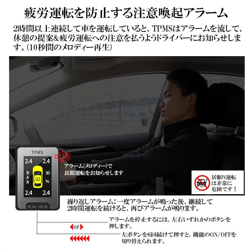 トヨタ車専用液晶モニター型タイヤ空気圧監視警報システムTPMS_5