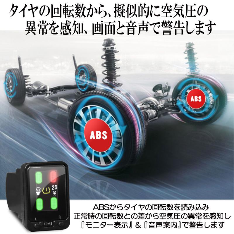 トヨタ車専用音声案内式タイヤ空気圧監視警報システムTPMS_4